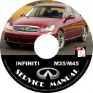 2007 Infiniti M35 M45 Factory Service Repair Shop Manual on CD Fix Repair Rebuild 07 Workshop Guide