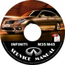 2008 Infiniti M35 M45 Factory Service Repair Shop Manual on CD Fix Repair Rebuild 08 Workshop Guide