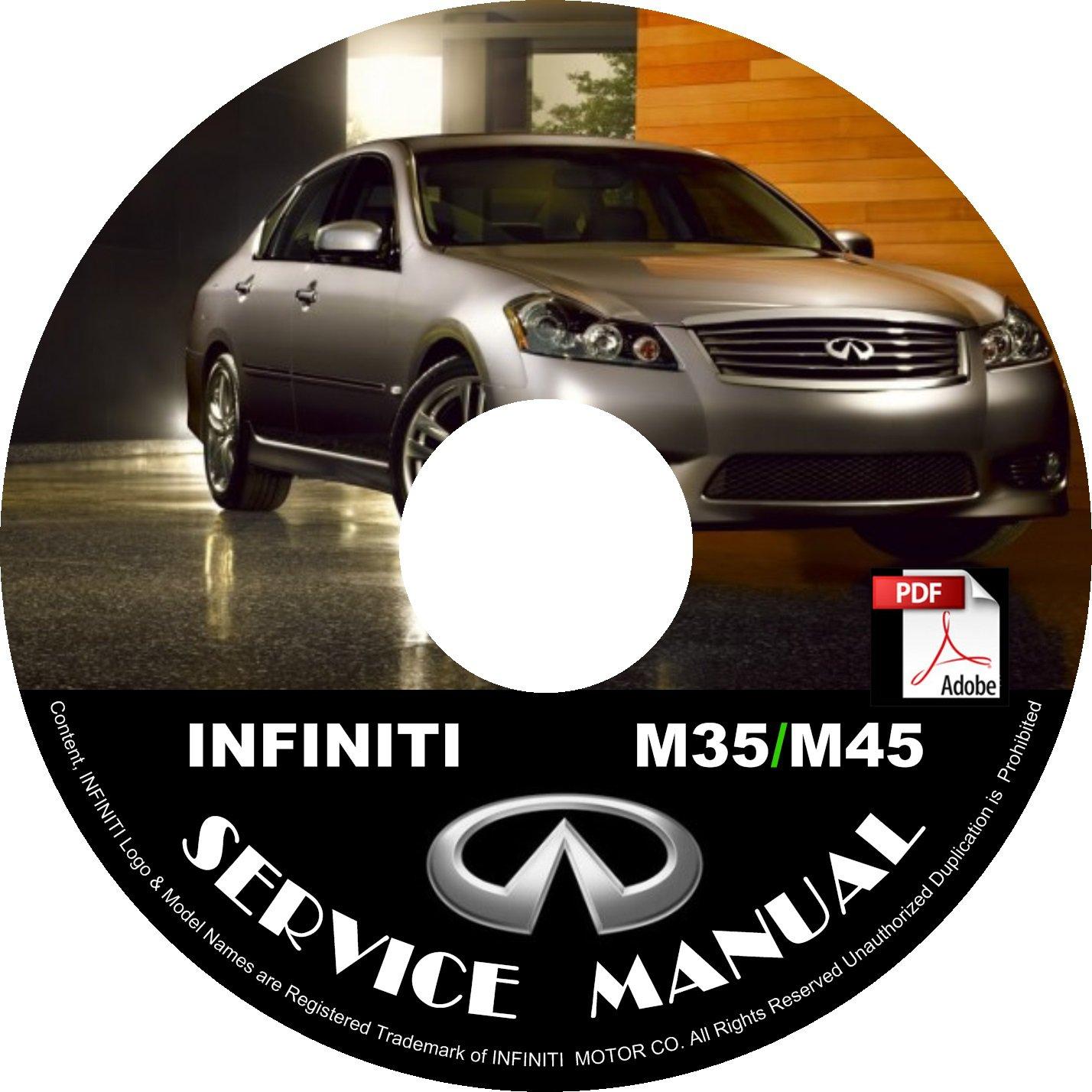 2009 Infiniti M35 M45 Factory Service Repair Shop Manual on CD Fix Repair Rebuild 09 Workshop Guide
