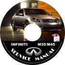 2010 Infiniti M35 M45 Factory Service Repair Shop Manual on CD Fix Repair Rebuild '10 Workshop Guide