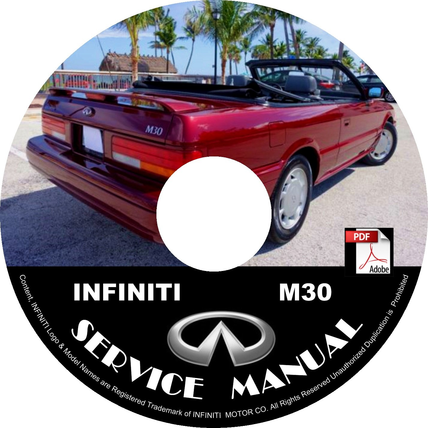 1991 Infiniti M30 Oem Factory Service Repair Shop Manual