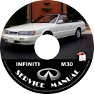 1992 Infiniti M30 Factory OEM Service Repair Shop Manual on CD 92 Workshop Guide
