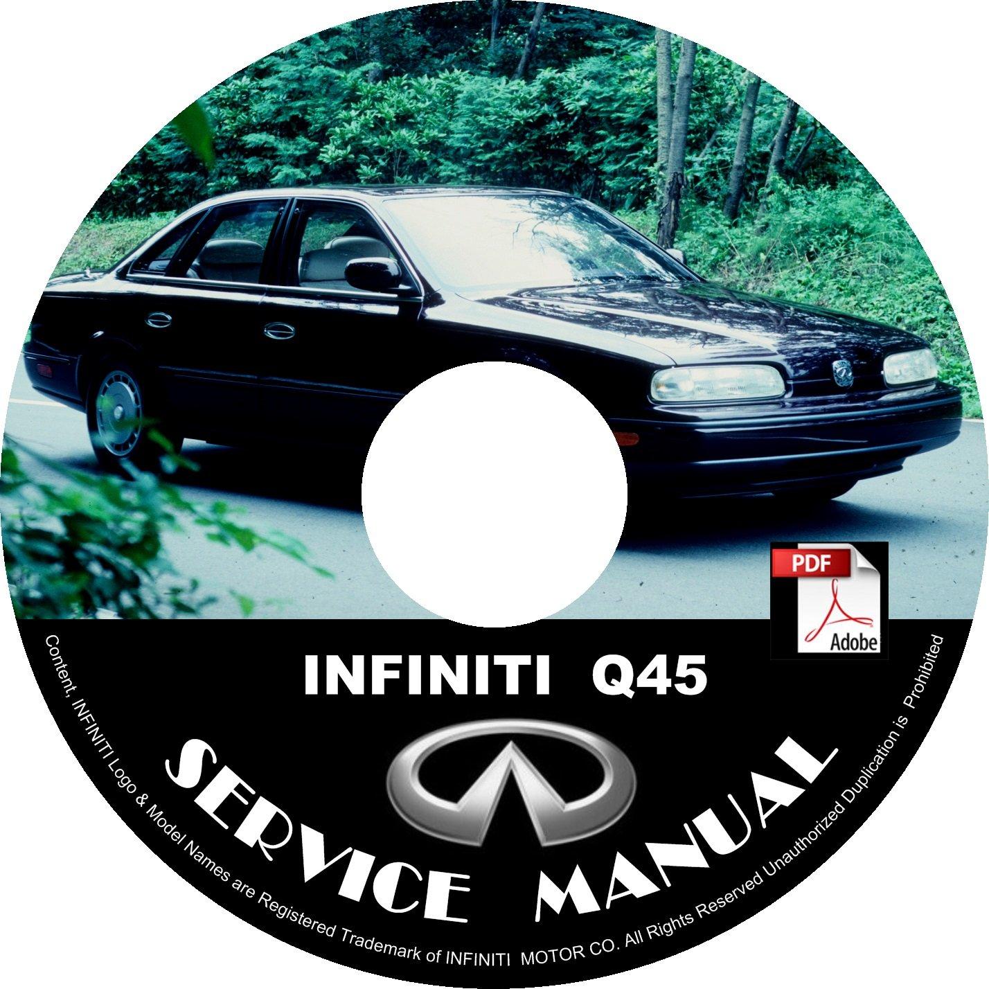 1993 Infiniti Q45 OEM Factory Service Repair Shop Manual on CD 93 Workshop Guide