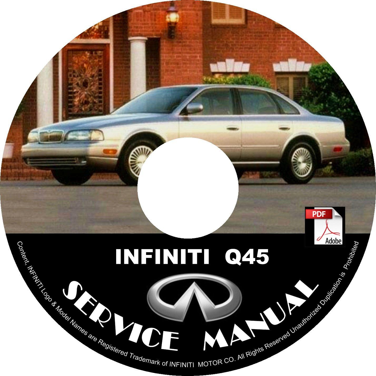 1999 Infiniti Q45 OEM Factory Service Repair Shop Manual on CD 99 Workshop Guide