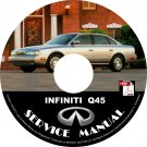 2001 Infiniti Q45 OEM Factory Service Repair Shop Manual on CD '01 Workshop Guide
