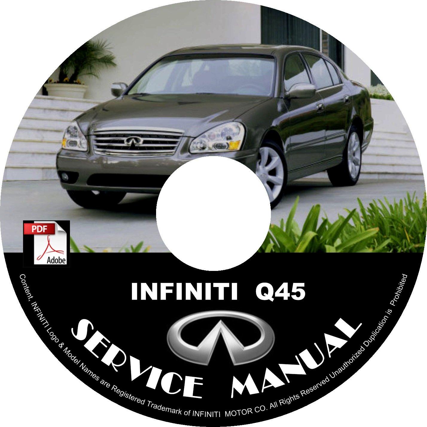 2004 Infiniti Q45 Factory Service Repair Shop Manual on CD Fix Repair Rebuild 04 Workshop Guide
