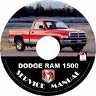 2001 Dodge RAM 1500 Factory Service Repair Shop Manual on CD Fix Repair Rebuilt