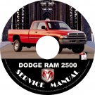 1999 Dodge RAM 2500 Factory Service Repair Shop Manual on CD Fix Repair Rebuilt