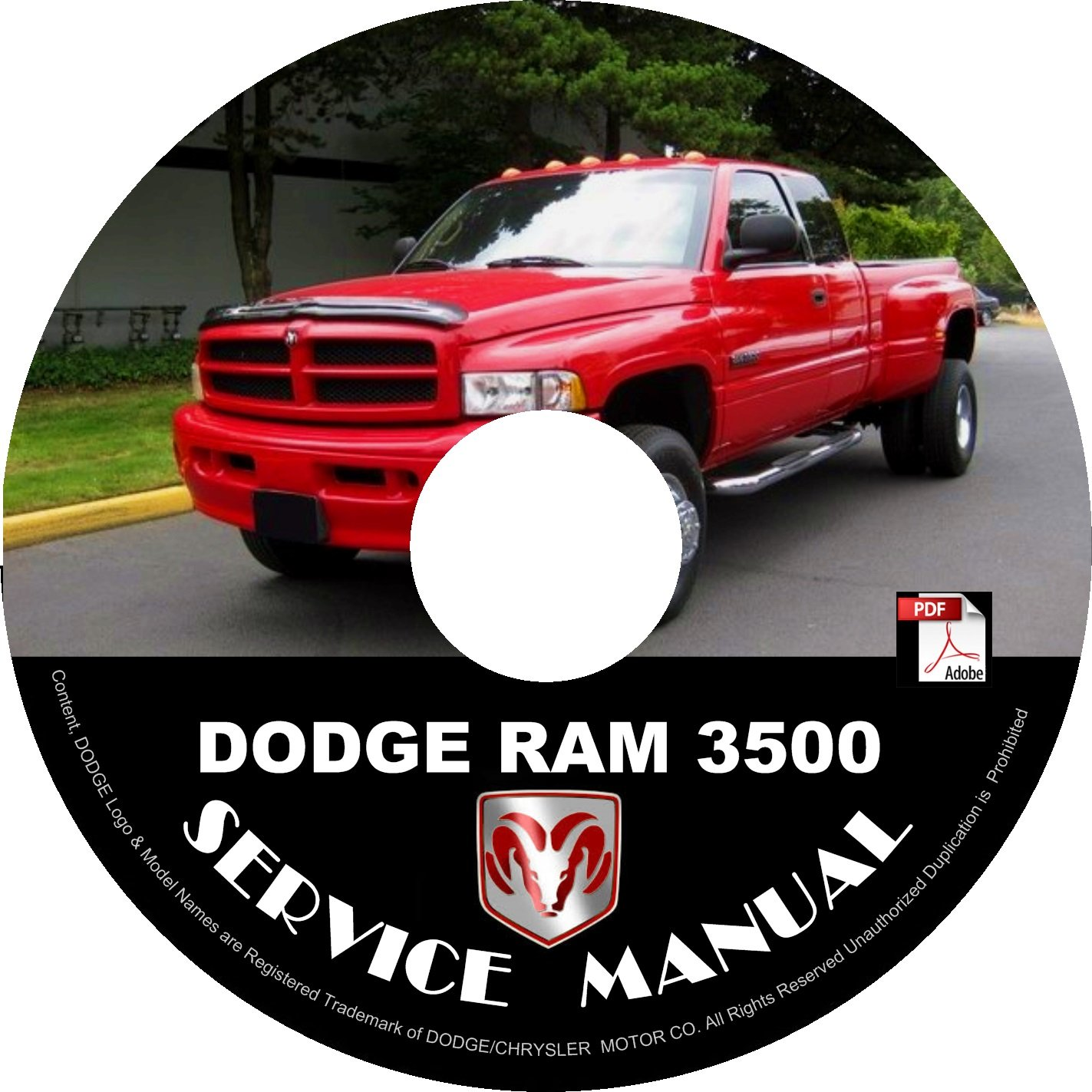 1996 Dodge RAM 3500 Factory Service Repair Shop Manual on CD Fix Repair Rebuilt