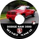 1999 Dodge RAM 3500 Factory Service Repair Shop Manual on CD Fix Repair Rebuilt