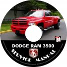 2001 Dodge RAM 3500 Factory Service Repair Shop Manual on CD Fix Repair Rebuilt