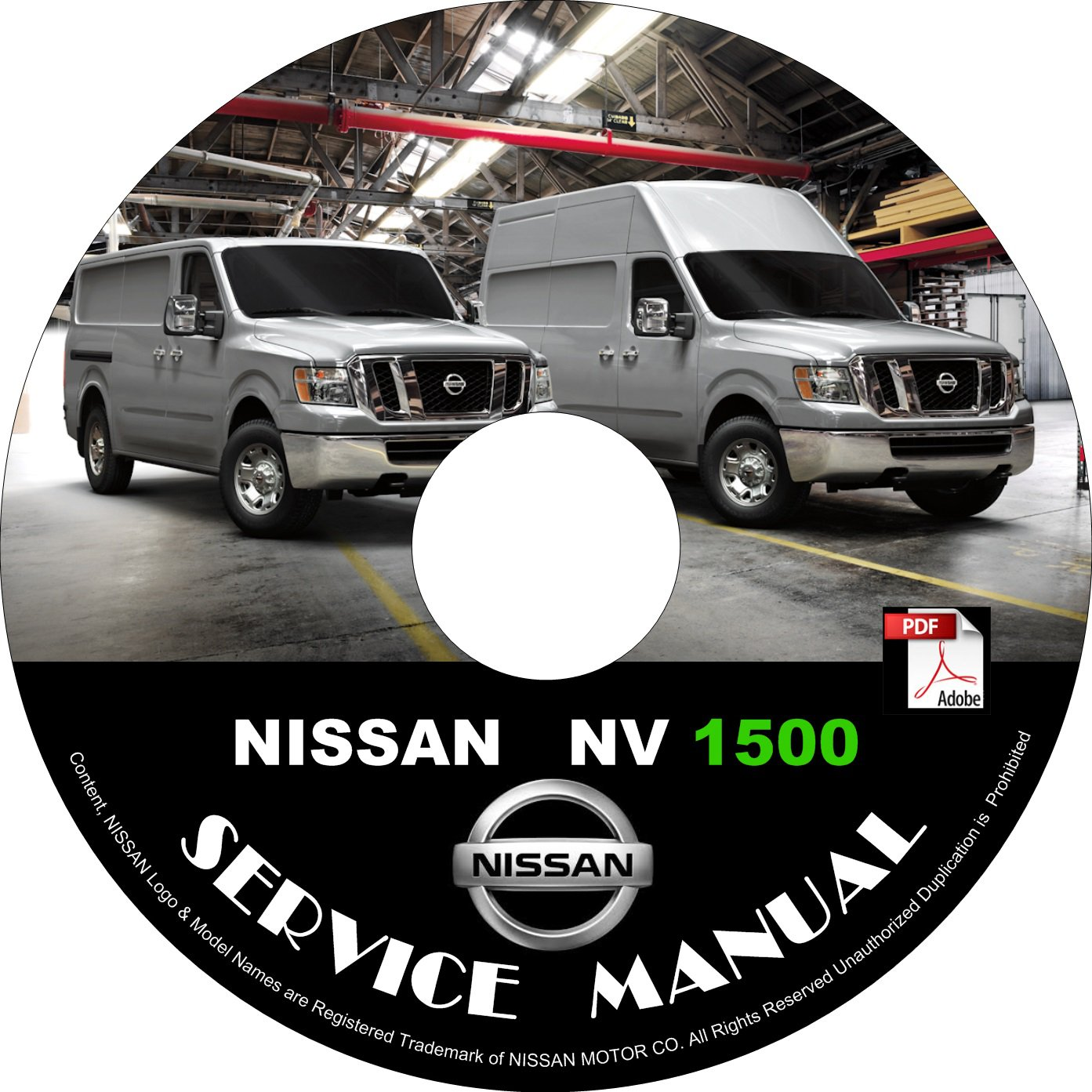 2012 Nissan NV 1500 Factory Service Repair Shop Manual on CD Fix Repair Rebuild '12 Workshop Guide