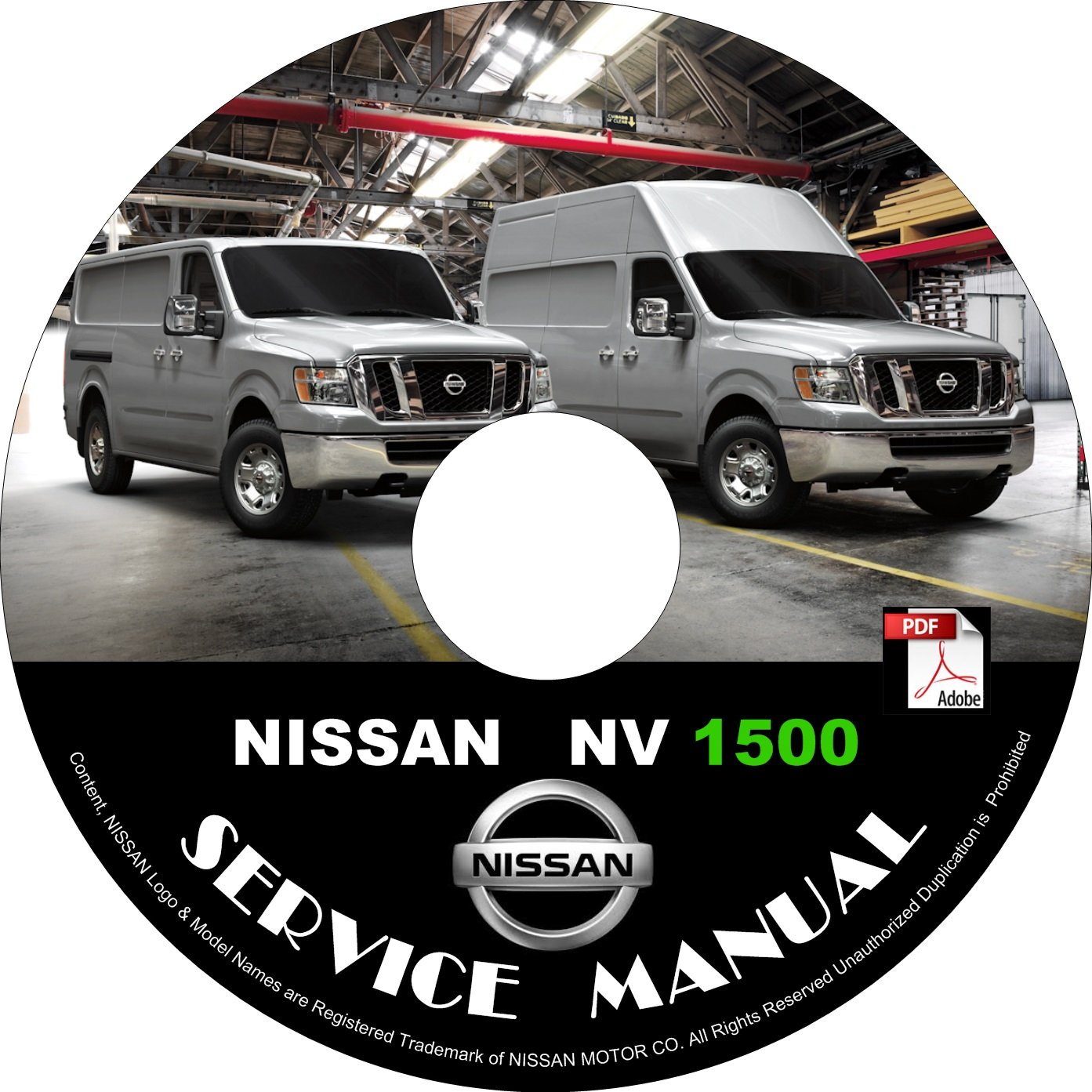 2013 Nissan NV 1500 Factory Service Repair Shop Manual on CD Fix Repair Rebuild '13 Workshop Guide