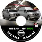 2014 Nissan NV 1500 Factory Service Repair Shop Manual on CD Fix Repair Rebuild '14 Workshop Guide