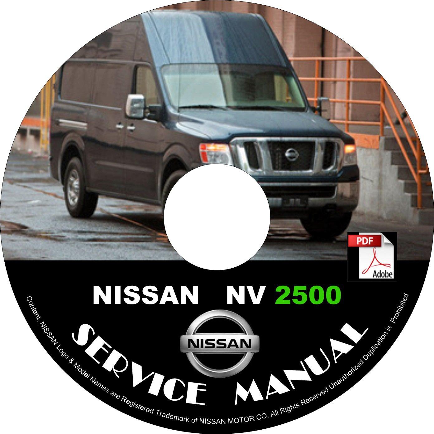 2012 Nissan NV 2500 Factory Service Repair Shop Manual on CD Fix Repair Rebuild '12 Workshop Guide