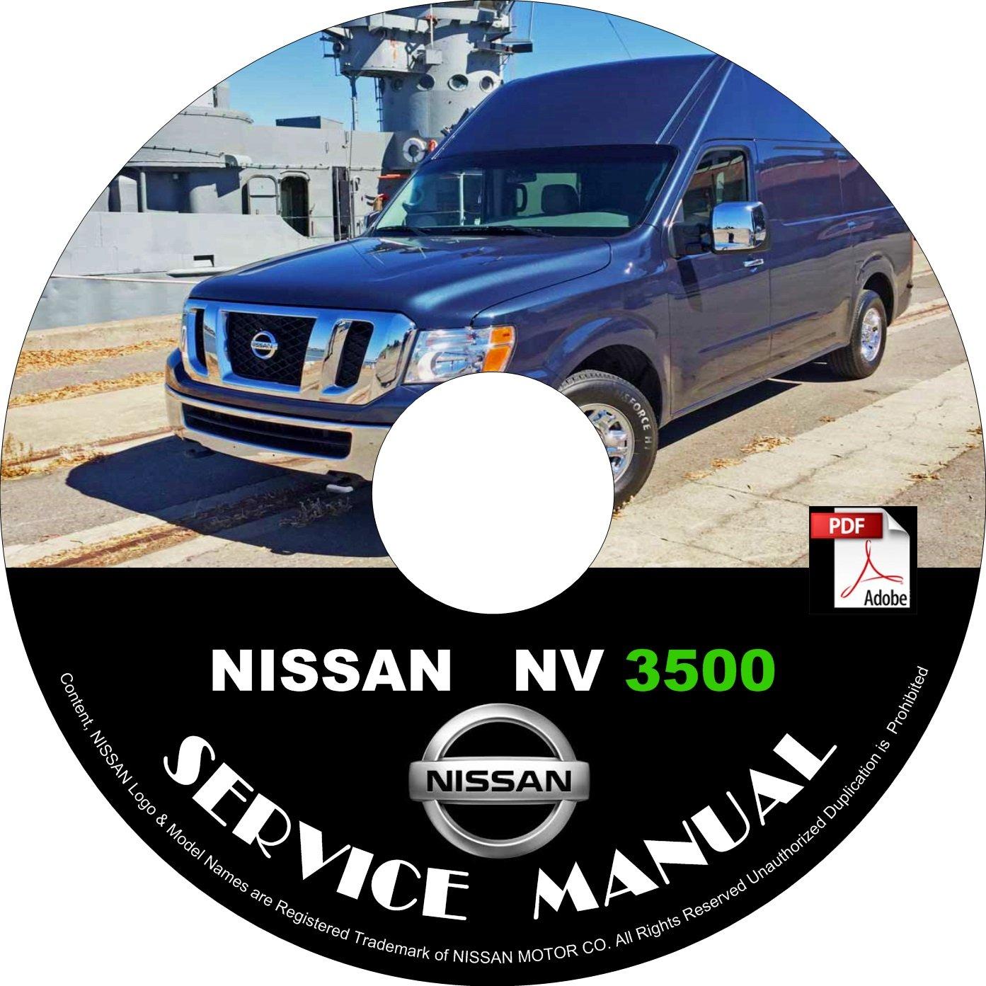 2012 Nissan NV 3500 Factory Service Repair Shop Manual on CD Fix Repair Rebuild '12 Workshop Guide