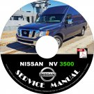 2013 Nissan NV 3500 Factory Service Repair Shop Manual on CD Fix Repair Rebuild '13 Workshop Guide