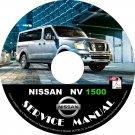 2016 Nissan NV 1500 Factory Service Repair Shop Manual on CD Fix Repair Rebuild '16 Workshop Guide