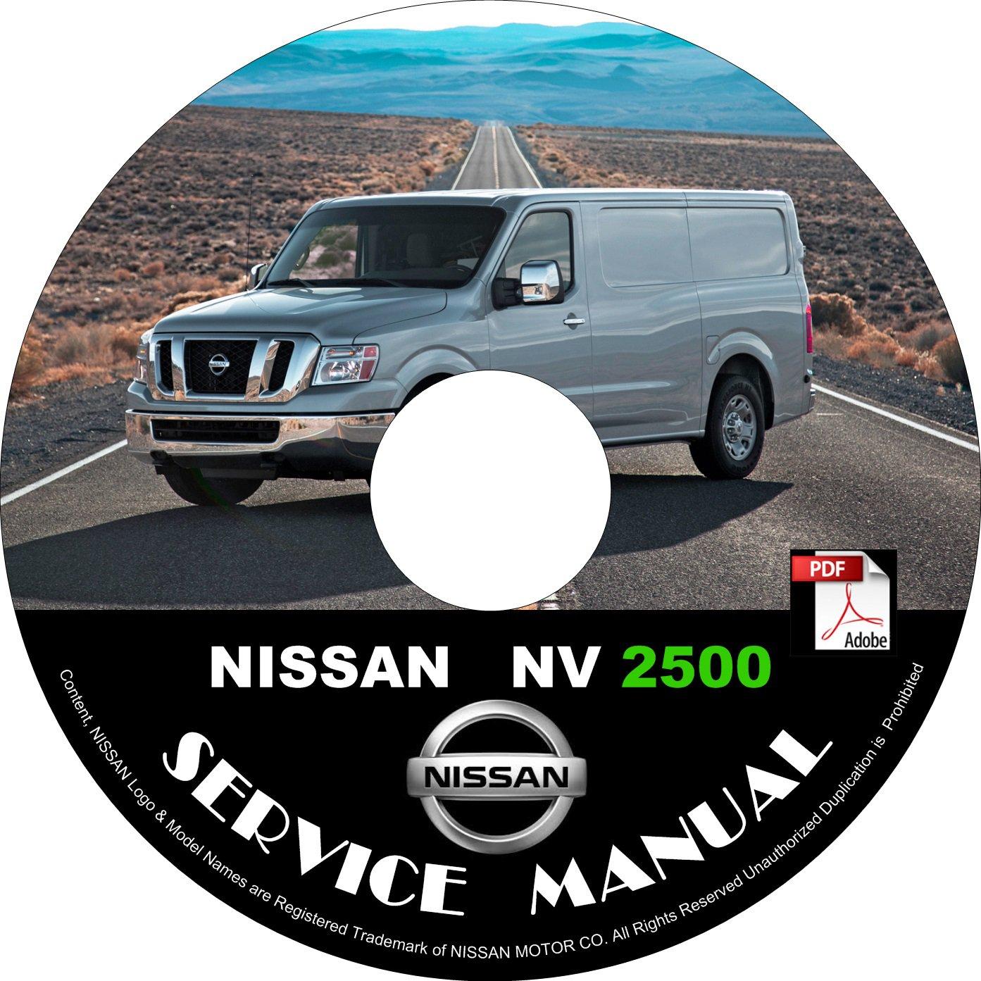 2016 Nissan NV 2500 Factory Service Repair Shop Manual on CD Fix Repair Rebuild '16 Workshop Guide