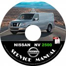 2016 Nissan NV 2500 Factory Service Repair Shop Manual on CD Fix Repair Rebuild '16 Workshop Guide