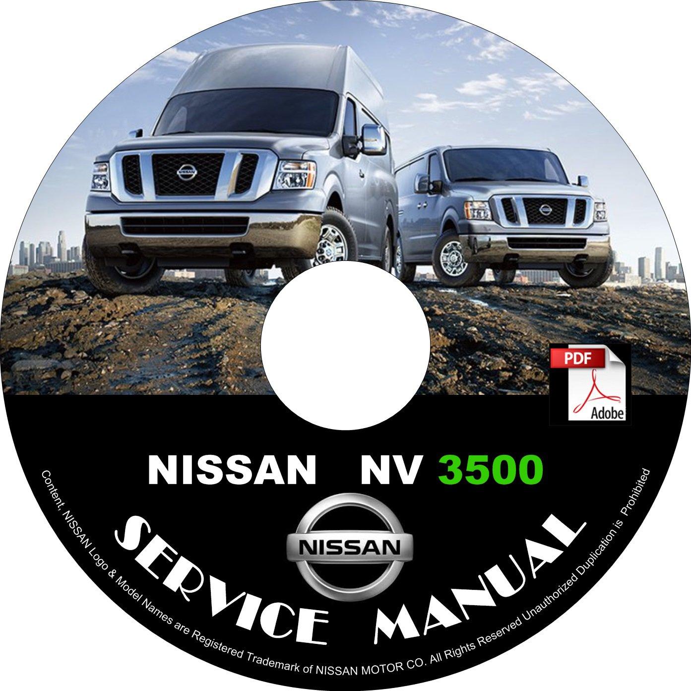 2016 Nissan NV 3500 Factory Service Repair Shop Manual on CD Fix Repair Rebuild '16 Workshop Guide