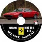1973 Ferrari Dino 308 GT4 Factory Service Repair Shop Manual on CD Fix Rebuilt