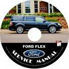 2009 Ford Flex Factory Repair Service Shop Manual on CD Fix Repair Rebuilt Workshop Guide