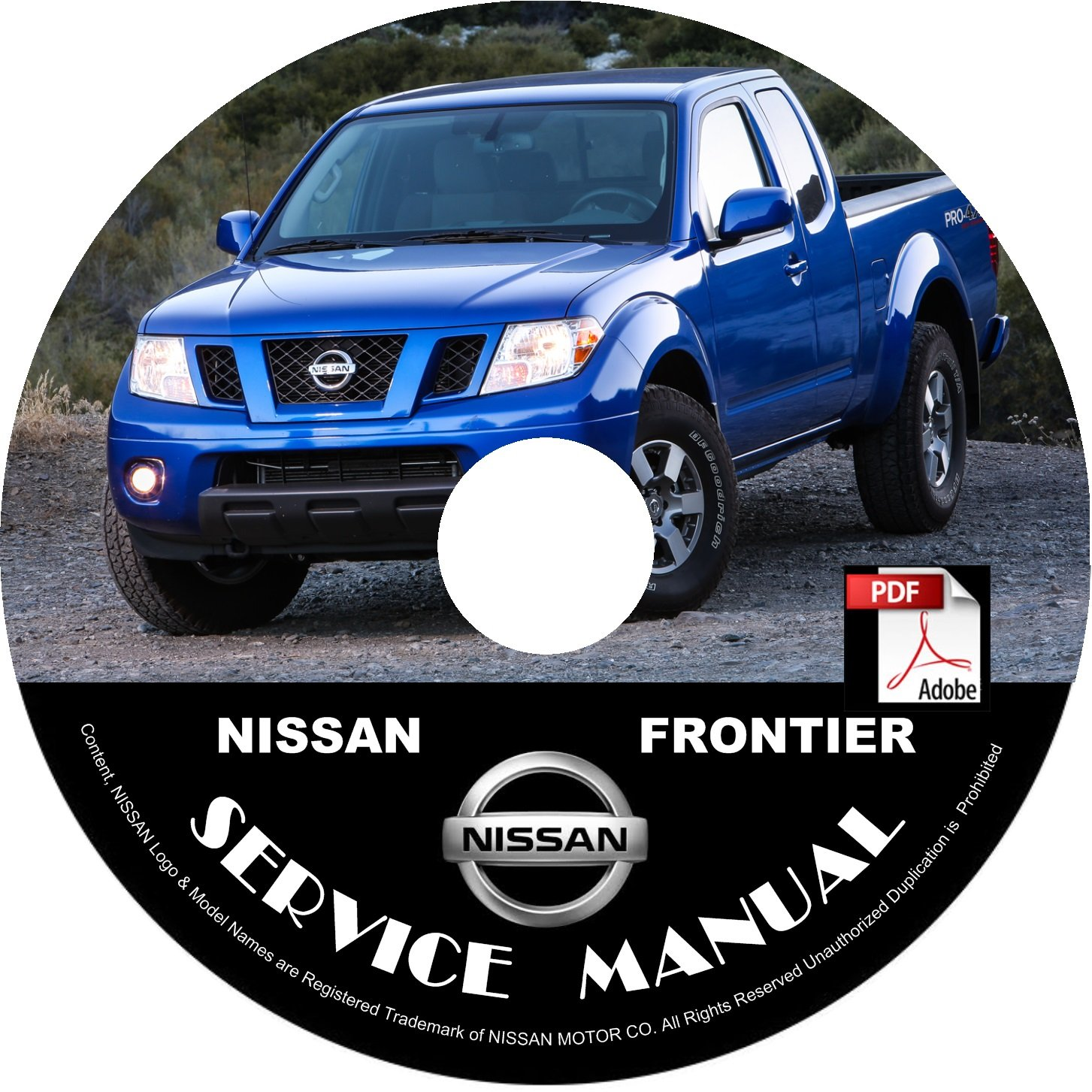 2008 Nissan Frontier Service Repair Shop Manual on CD Fix Rebuild '08