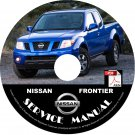 2009 Nissan Frontier Service Repair Shop Manual on CD Fix Rebuild '09