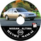 Nissan 1996 Altima Service Repair Shop Manual on CD 96 Factory OEM