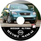 Nissan 2003 Altima Service Repair Shop Manual on CD 03 Factory OEM