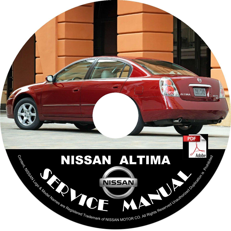Nissan 2004 Altima Service Repair Shop Manual on CD 04 OEM Factory