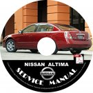 Nissan 2004 Altima Service Repair Shop Manual on CD 04 OEM Factory