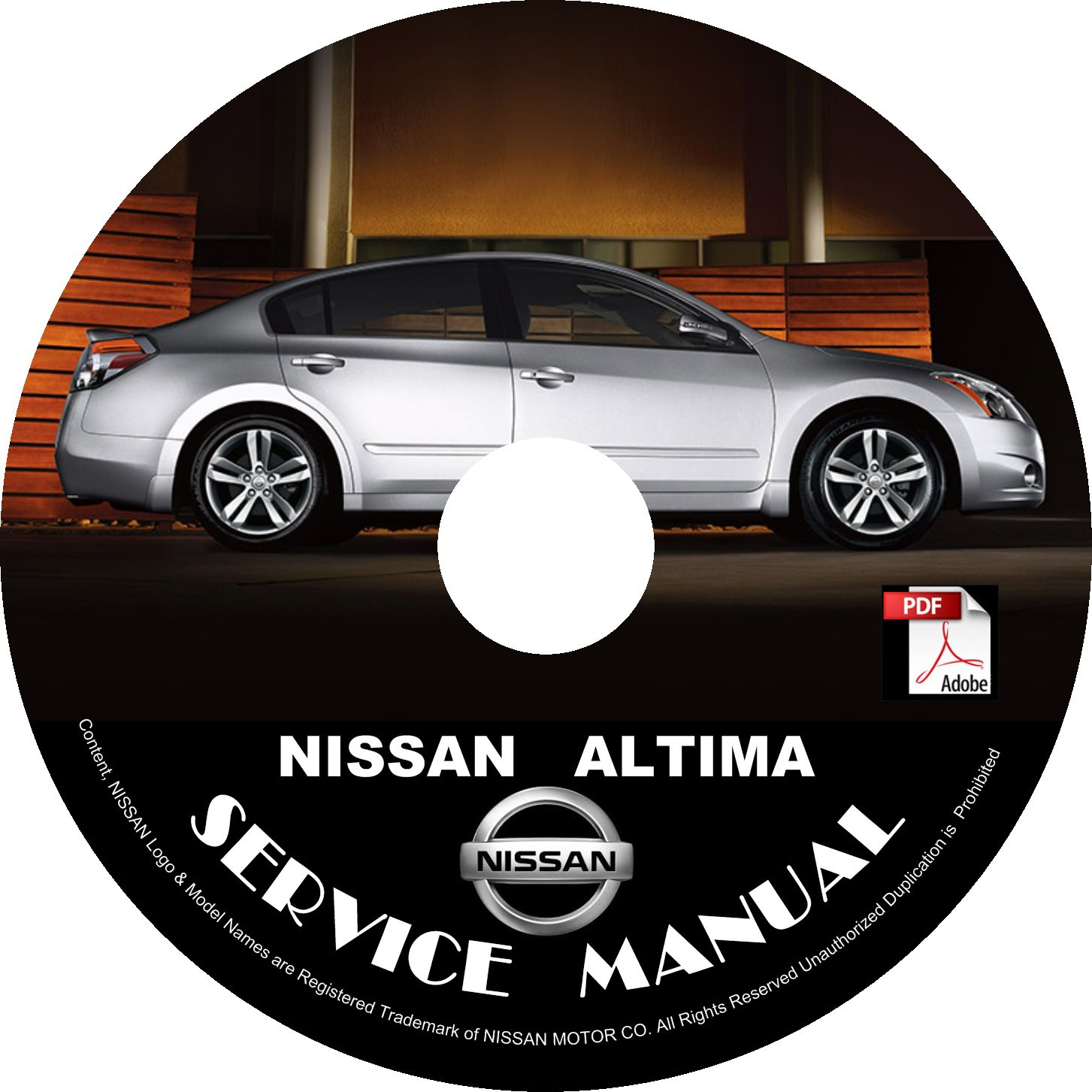 Nissan 2008 Altima Service Repair Shop Manual on CD 08 Factory OEM