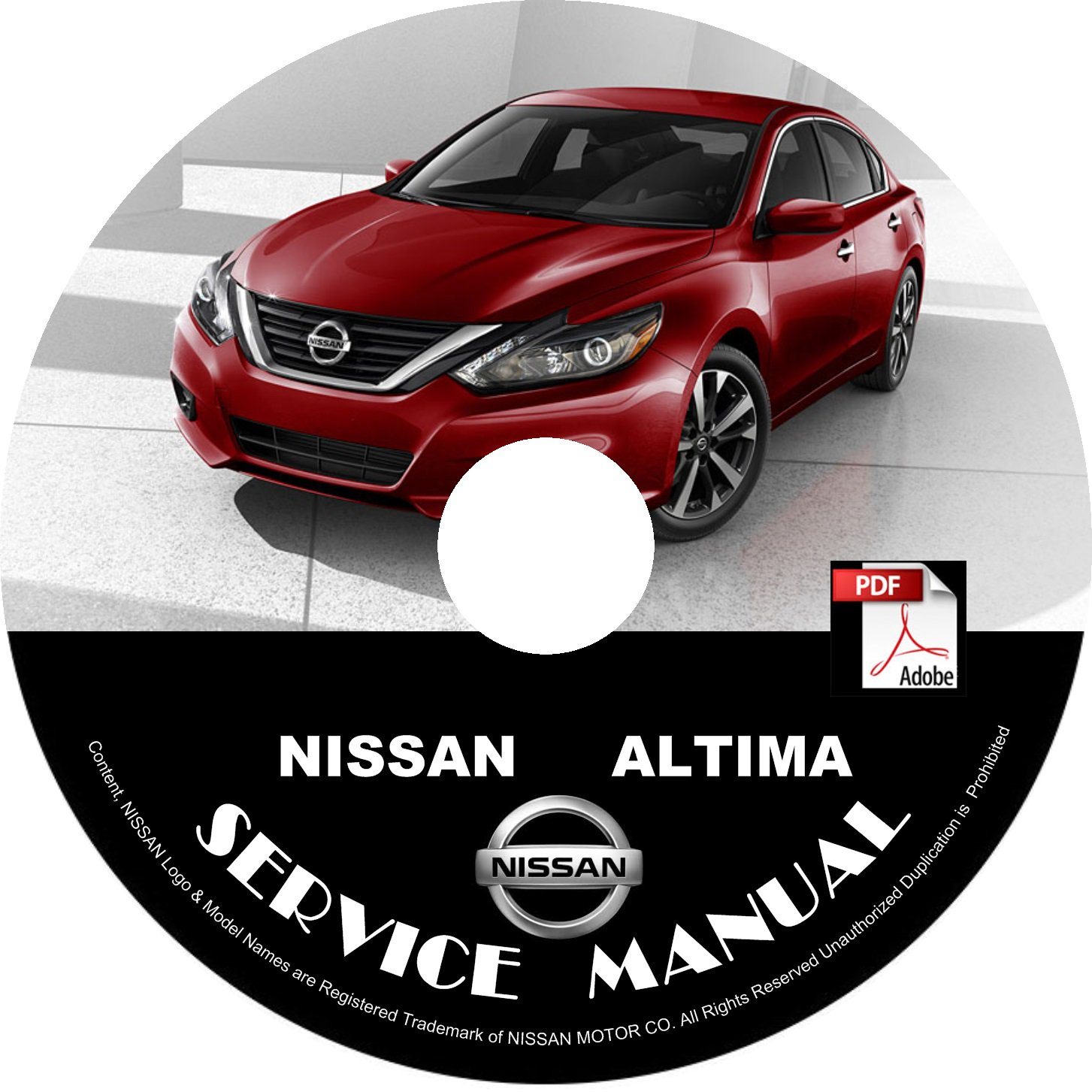 2016 Nissan Altima Service Repair Shop Manual on CD