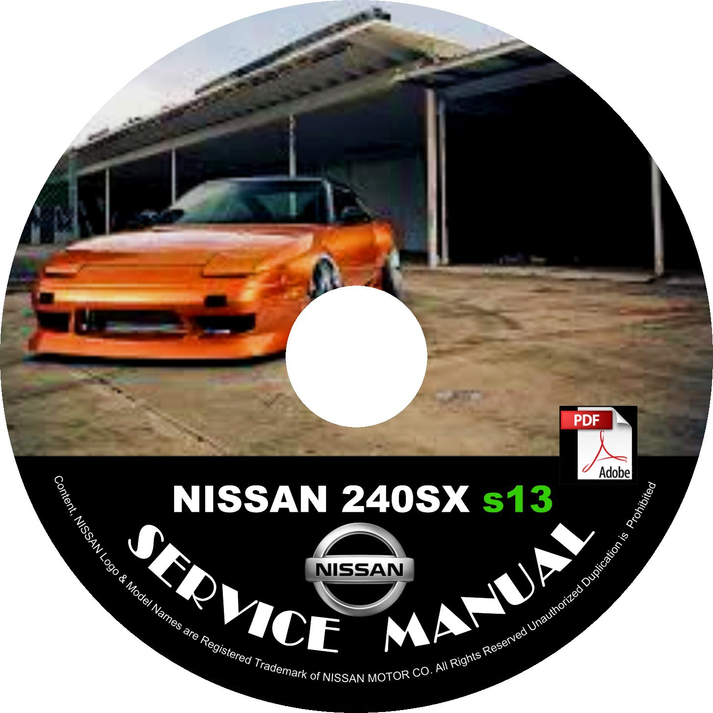 1994 94 Nissan 240sx s13 Service Repair Shop Manual on CD