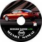 1996 '96 Nissan 240sx s14 ka24de Service Repair Shop Manual on CD