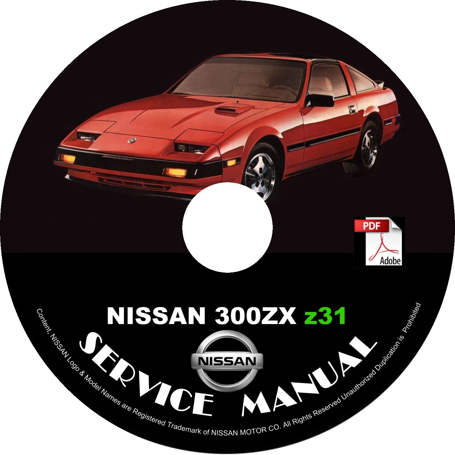 1987 Nissan 300ZX  Z31 Service Repair Shop Manual on CD Repair Rebuild Fix
