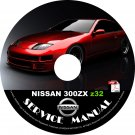 1996 96 Nissan 300ZX z32 Service Repair Shop Manual on CD VG30DE/TT