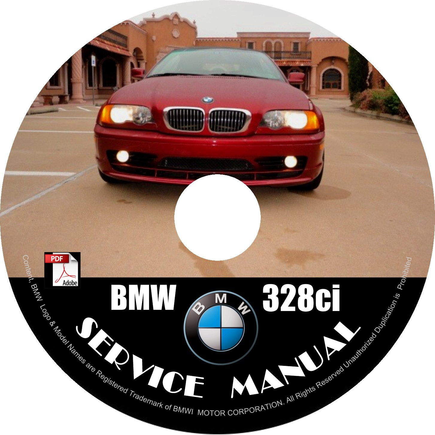 BMW 1999 328ci e46 3-Series Factory OEM Service Repair Shop Manual on CD Fix Repair Rebuilt