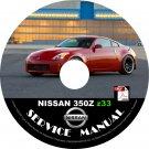 2006 Nissan 350Z Coupe Factory Service Repair Shop Manual on CD Z33 VQ35DE