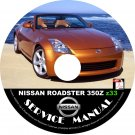 Nissan 2007 350Z Convertible Roadster Factory Service Repair Shop Manual on CD Z33 07