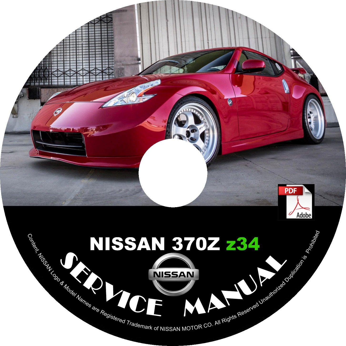 2009 Nissan 370Z Factory Service Repair Shop Manual on CD 09 Workshop Guide