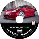 2010 Nissan 370Z Factory OEM Service Repair Shop Manual on CD