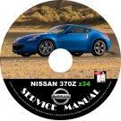 2012 Nissan 370Z Factory OEM Service Repair Shop Manual on CD