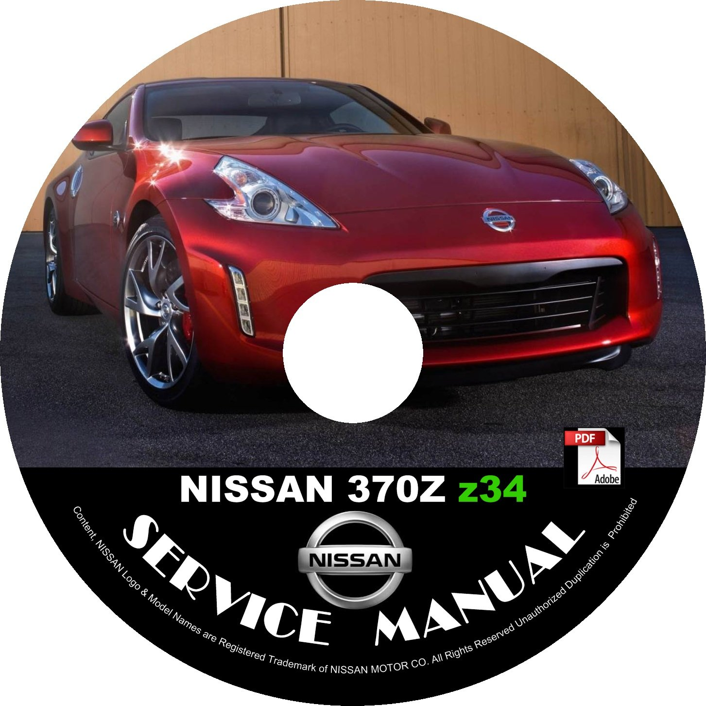 2015 Nissan 370Z Factory OEM Service Repair Shop Manual on CD