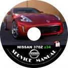 2015 Nissan 370Z Factory OEM Service Repair Shop Manual on CD