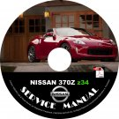 2016 Nissan 370Z Factory OEM Service Repair Shop Manual on CD