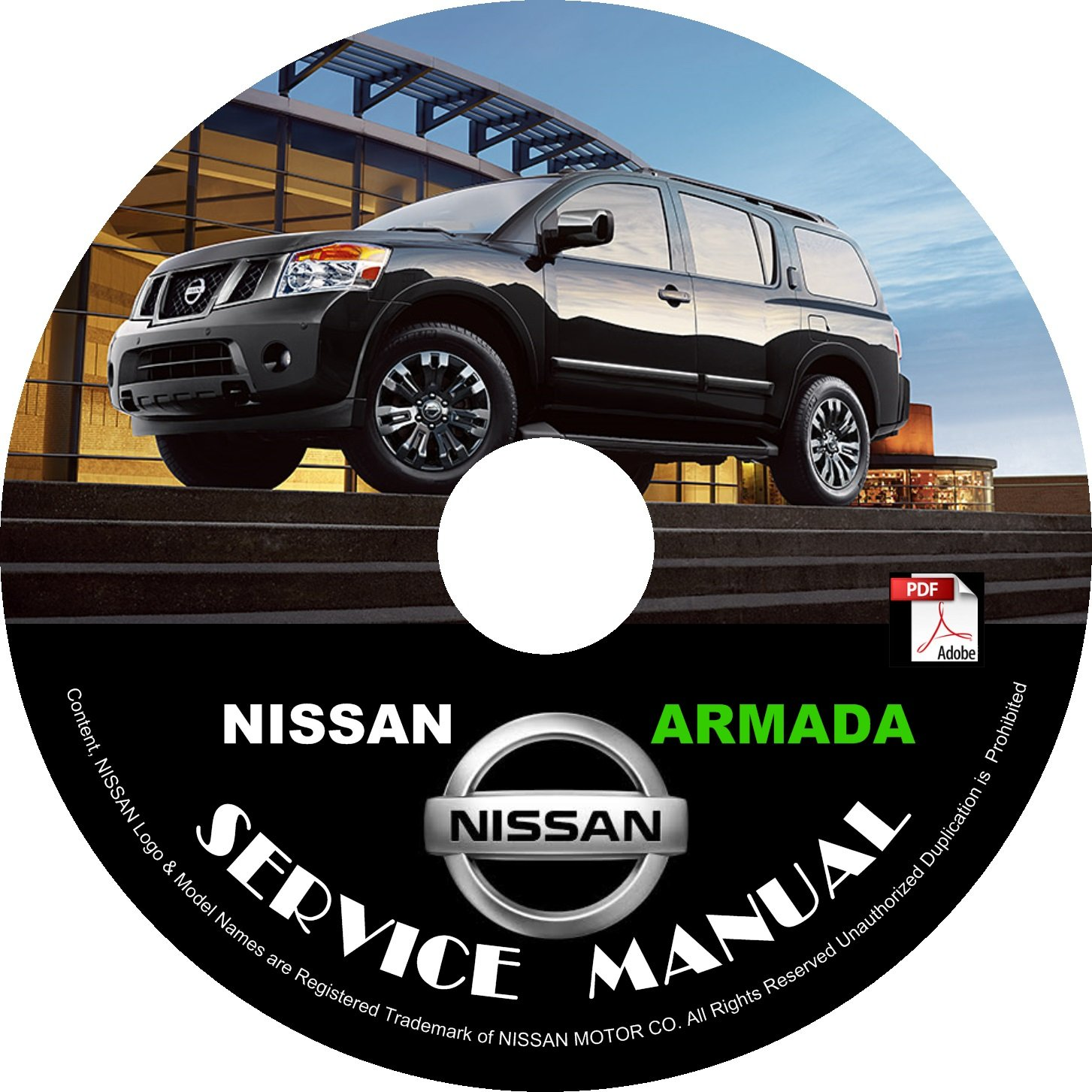 2013 Nissan Armada Factory Service Repair Shop Manual on CD