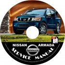 2015 Nissan Armada Factory Service Repair Shop Manual on CD